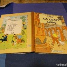 Comics : TINTIN I ELS CIGARS DEL FARAO PRECIOSO TEBEO 2A ED CATALAN MUY BUEN ESTADO LOMO DE TELA. Lote 221383335