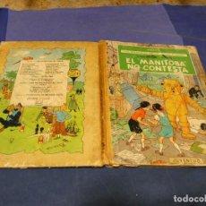 Cómics: AVENTURAS DE JO ZETTE Y JOCKO MANITOBA NO CONTESTA 1 ED 1971 TAPAS Y PAGINAS CORTESIA MAL, RESTO OK. Lote 221383451