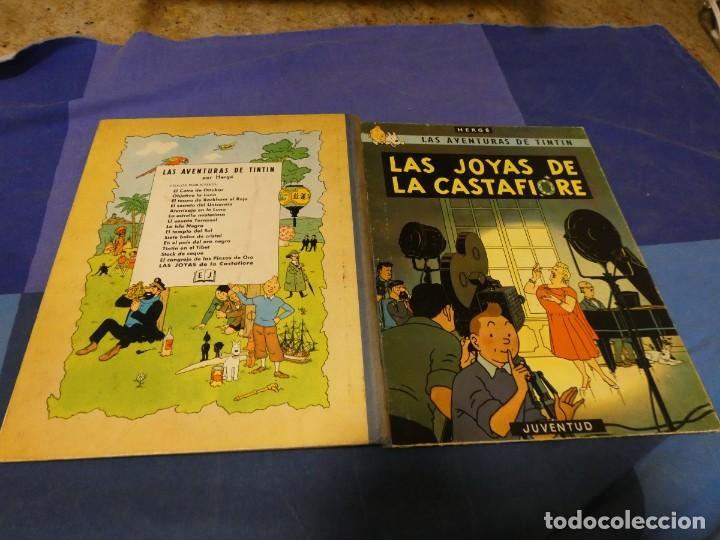 TINTIN Y LAS JOYAS DE LA CASTIAFORE 1 A EDICION 1964 PRECIOSA MUY BUEN ESTADO GENERAL (Tebeos y Comics - Juventud - Tintín)