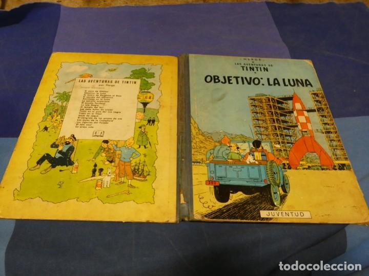 TINTIN EN LA LUNA 1965 ALGUNAS MACHAS DE OXIDO UNA LINEA DE BOLI EN PRIMERA PAGINA (Tebeos y Comics - Juventud - Tintín)