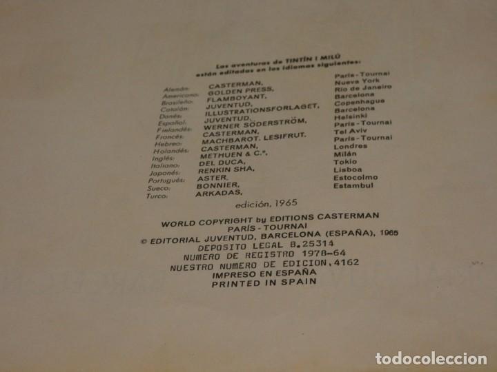 Cómics: TINTIN EN LA LUNA 1965 ALGUNAS MACHAS DE OXIDO UNA LINEA DE BOLI EN PRIMERA PAGINA - Foto 2 - 221385768