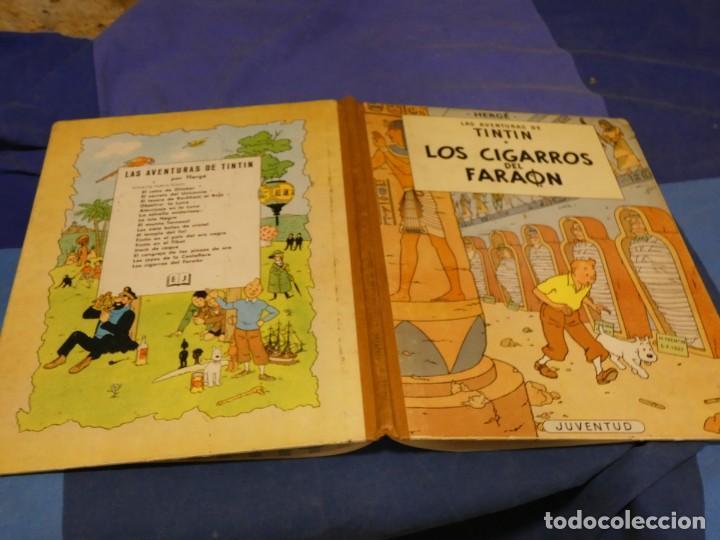 TINTIN LOS CIGARROS DEL FARAON PRIMERA EDICION 1964 MUY BUEN ESTADO GENERAL (Tebeos y Comics - Juventud - Tintín)
