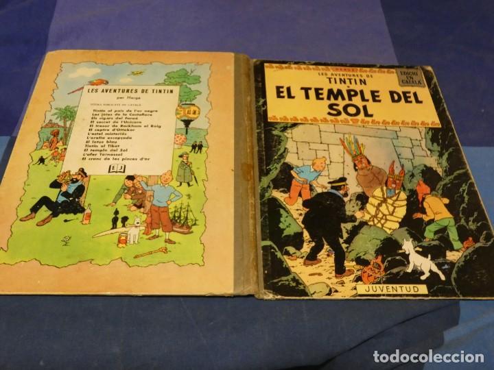 TINTIN I EL TEMPLE DEL SOL 1965 CATALAN PRIMERA EDICION 1965 CORRECTISIMO SIN DAÑOS DE CONSIDRACION (Tebeos y Comics - Juventud - Tintín)