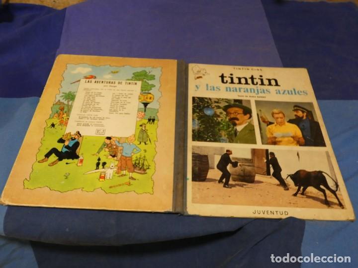 TINTIN Y LAS NARANJAS AZULES BUEN ESTADO GENERAL PRIMERA EDICION ENERO DE 1970 (Tebeos y Comics - Juventud - Tintín)