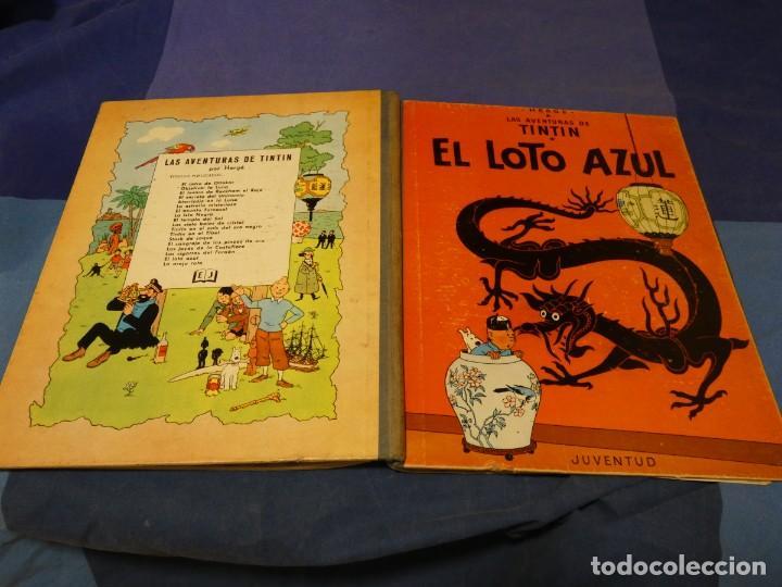 TINTIN EL LOTO AZUL 1A EDICION 1965 MUY BUEN ESTADO GENERAL PRECIOSO (Tebeos y Comics - Juventud - Tintín)
