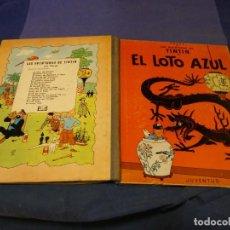 Cómics: TINTIN EL LOTO AZUL 1A EDICION 1965 MUY BUEN ESTADO GENERAL PRECIOSO. Lote 221387716