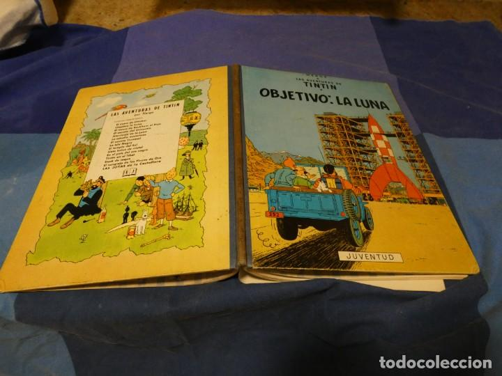 TINTIN OBJETIVO LA LUNA SEGUNDA EDICION ABRIL 1964 MUY BONITO Y EN BUEN ESTADO (Tebeos y Comics - Juventud - Tintín)