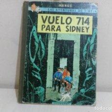 Cómics: LAS AVENTURAS DE TINTIN --VUELO 714 PARA SIDNEY--JUVENTUD- HERGE-1969--. Lote 221644702