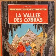 Cómics: LA VALLEE DES COBRAS BELGIQUE 1966. Lote 221678058