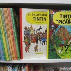 Cómics: COLECCION COMPLETA TINTIN + LAGO DE LOS TIBURONES + ARTBOOK TINTIN / HERGE. Lote 221746478