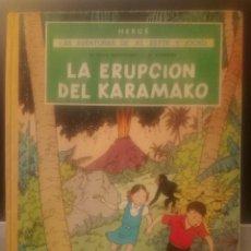 Cómics: HERGÉ - LAS AVENTURAS DE JO, ZETTE Y JOCKO. LA ERUPCIÓN DEL KARAMAKO (1ª EDICIÓN). Lote 221747485