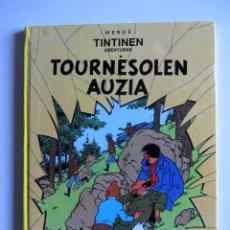 Cómics: TINTINEN ABENTURAK. TOURNESOLEN AUZIA. ELKAR 1989 PRIMERA EDICIÓN. BUEN ESTADO.. Lote 295398963