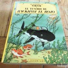Cómics: TINTIN EL TESORO DE RACKHAM EL ROJO CARTONE EDICION 10 1984 JUVENTUD. Lote 222044142