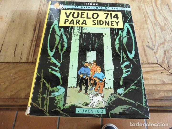 TINTIN VUELO 714 PARA SIDNEY CARTONE EDICION 7 1983 JUVENTUD (Tebeos y Comics - Juventud - Tintín)