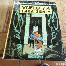 Cómics: TINTIN VUELO 714 PARA SIDNEY CARTONE EDICION 7 1983 JUVENTUD. Lote 222044383