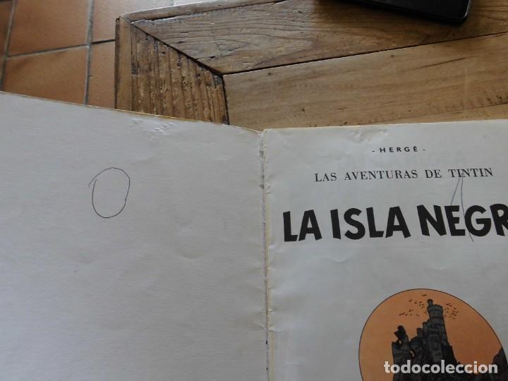 Cómics: TINTIN LA ISLA NEGRA EDICION 11 1988 CARTONE JUVENTUD - Foto 2 - 222044992