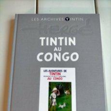 Cómics: ARCHIVOS TINTIN - EN EL CONGO FACSIMIL - AU CONGO - LES ARCHIVES NOIR - FRANCES - ATLAS. Lote 222066633