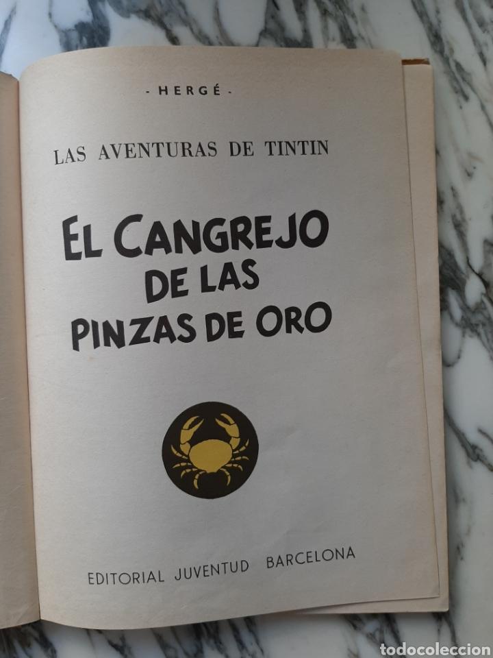 Cómics: LAS AVENTURAS DE TINTÍN - EL CANGREJO DE LAS PINZAS DE ORO - HERGÉ - JUVENTUD - CUARTA EDICIÓN -1971 - Foto 2 - 222118660