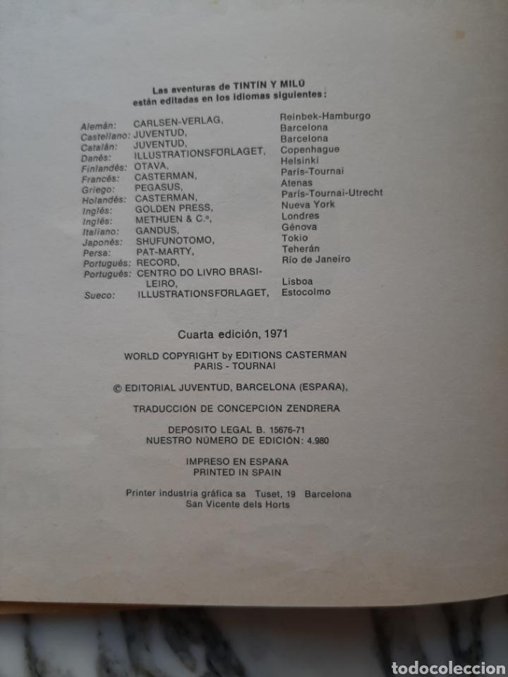 Cómics: LAS AVENTURAS DE TINTÍN - EL CANGREJO DE LAS PINZAS DE ORO - HERGÉ - JUVENTUD - CUARTA EDICIÓN -1971 - Foto 3 - 222118660