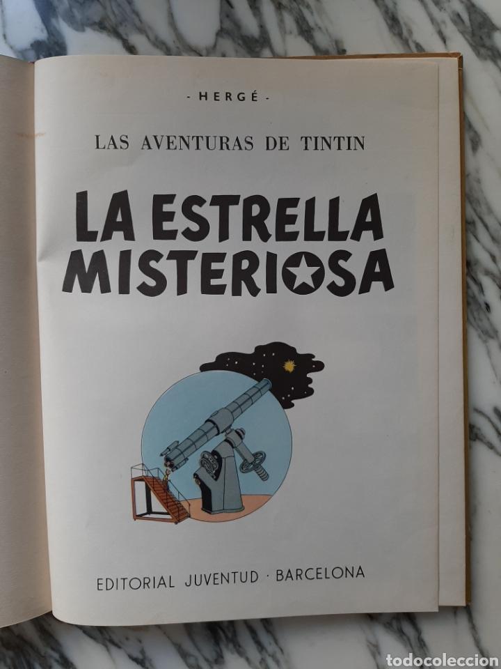 Cómics: LAS AVENTURAS DE TINTÍN - LA ESTRELLA MISTERIOSA - HERGÉ - JUVENTUD - QUINTA EDICIÓN - 1970 - Foto 2 - 222119053
