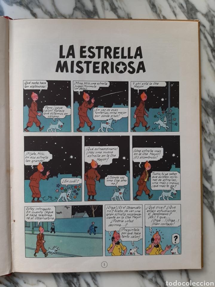 Cómics: LAS AVENTURAS DE TINTÍN - LA ESTRELLA MISTERIOSA - HERGÉ - JUVENTUD - QUINTA EDICIÓN - 1970 - Foto 4 - 222119053