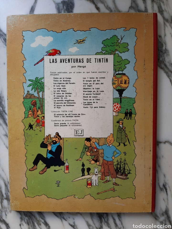 Cómics: LAS AVENTURAS DE TINTÍN - LA ESTRELLA MISTERIOSA - HERGÉ - JUVENTUD - QUINTA EDICIÓN - 1970 - Foto 5 - 222119053