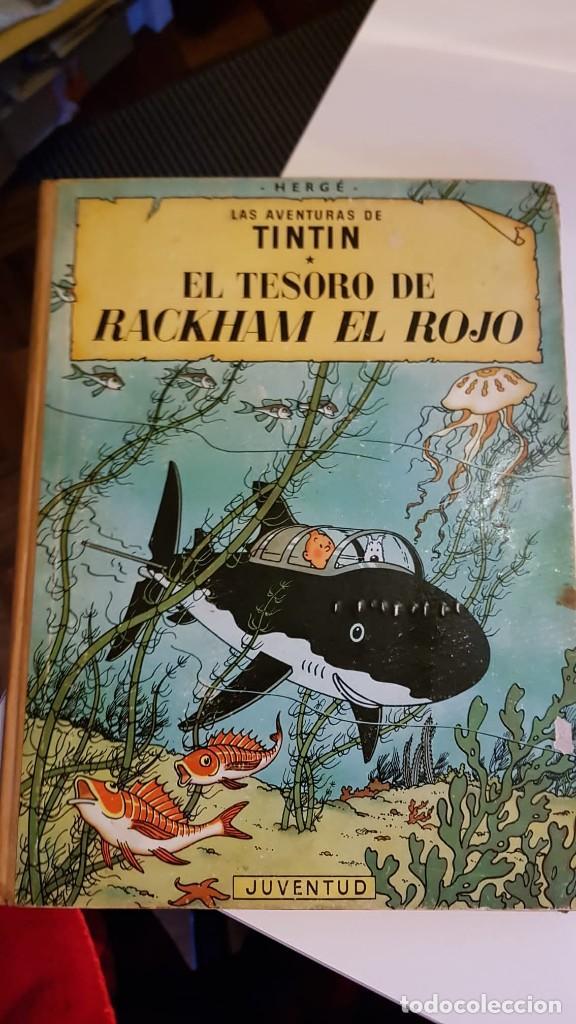 LAS AVENTURAS DE TINTIN. EL TESORO DE RACKHAM EL ROJO DE HERGÉ 1ª EDICIÓN 1960 (Tebeos y Comics - Juventud - Tintín)