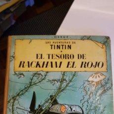 Cómics: LAS AVENTURAS DE TINTIN. EL TESORO DE RACKHAM EL ROJO DE HERGÉ 1ª EDICIÓN 1960. Lote 222190392