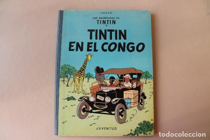 TINTIN EN EL CONGO, SEGUNDA EDICIÓN, MUY BUEN ESTADO, INTERIOR IMPECABLE (Tebeos y Comics - Juventud - Tintín)