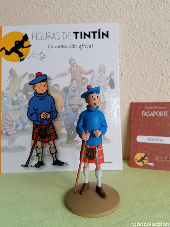 Cómics: Figura Colección TINTIN -Tintin con kilt- Nº 22 - Foto 2 - 222264160