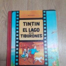 Cómics: COMIC TINTIN LOMO TELA EL LAGO DE LOS TIBURONES NOVENTA EDICIÓN 1989 HERGE EDITORIAL JUVENTUD. Lote 222283351