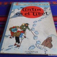Cómics: CON LETRAS EN EL LOMO, TINTIN EN EL TÍBET. JUVENTUD 4ª CUARTA EDICIÓN 1970.. Lote 222298263