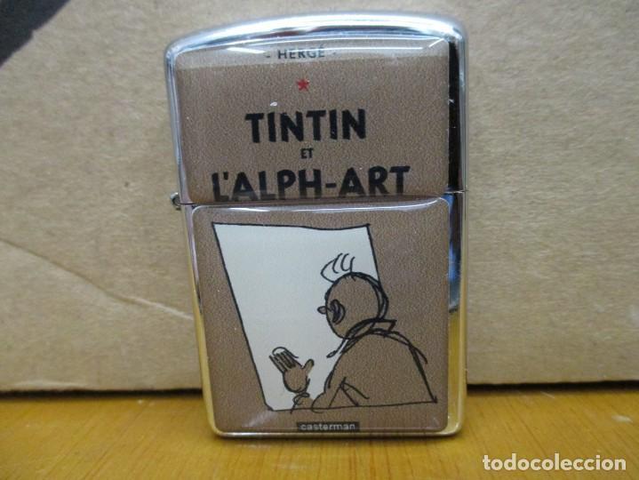 MECHERO TINTIN TIPO ZIPPO NUEVO - TINTIN Y EL ARTE ALPHA - PORTADA FRANCESA (Tebeos y Comics - Juventud - Tintín)