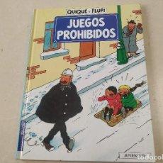 Cómics: JUEGOS PROHIBIDOS - QUIQUE Y FLUPI - HERGÉ. Lote 222363502