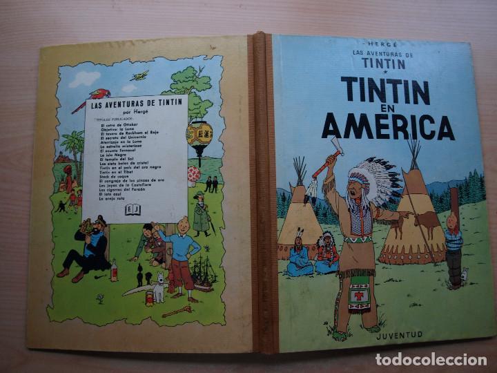 Cómics: TINTIN EN AMERICA - PRIMERA EDICION 1968 - TAPA DURA - JUVENTUID - BUEN ESTADO - Foto 2 - 222372952