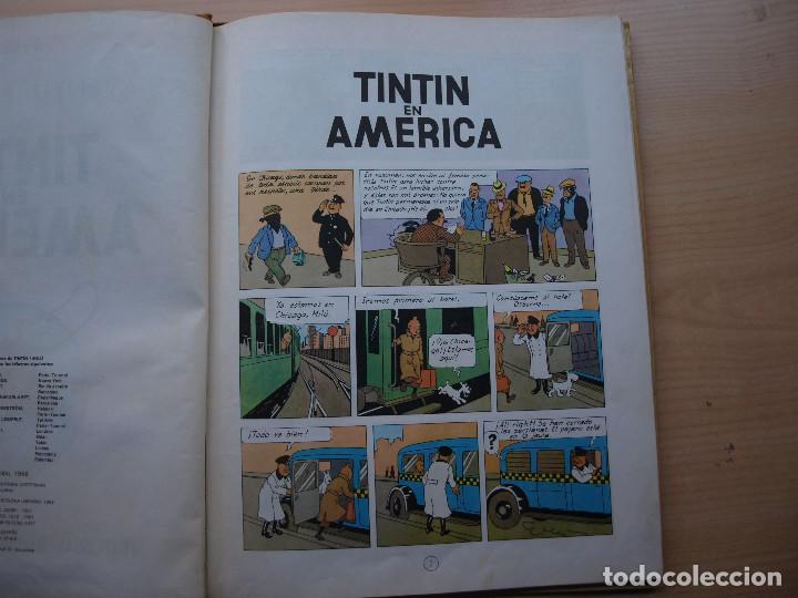 Cómics: TINTIN EN AMERICA - PRIMERA EDICION 1968 - TAPA DURA - JUVENTUID - BUEN ESTADO - Foto 4 - 222372952