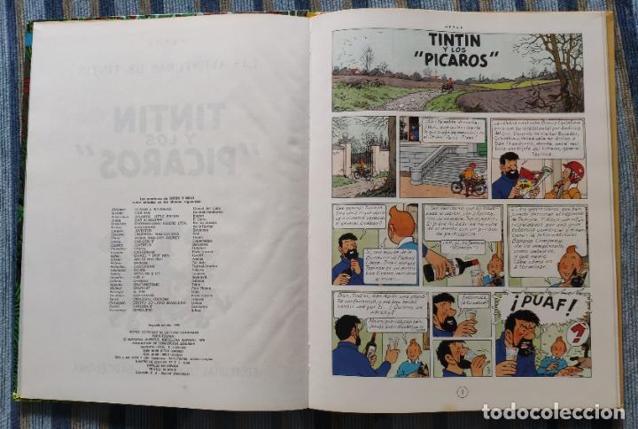 Cómics: TINTIN - LOMO TELA (COMPLETA CON 5 PRIMERAS,16 SEGUNDAS Y 4 TERCERAS EDICIONES)- JUVENTUD AÑOS 60-70 - Foto 10 - 222408535