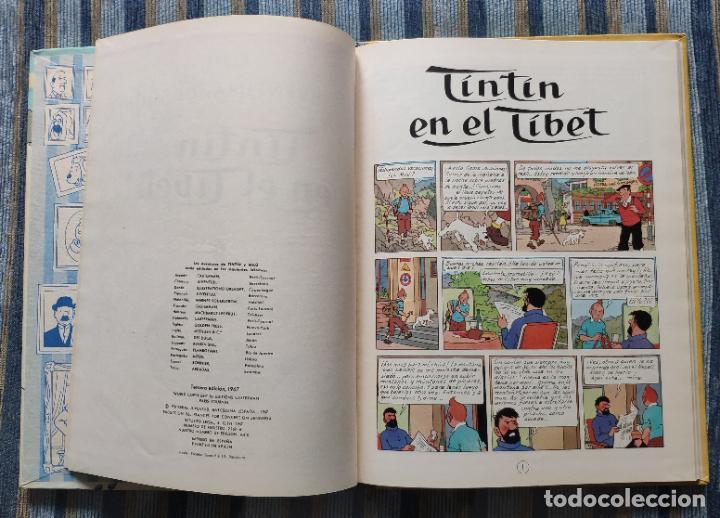 Cómics: TINTIN - LOMO TELA (COMPLETA CON 5 PRIMERAS,16 SEGUNDAS Y 4 TERCERAS EDICIONES)- JUVENTUD AÑOS 60-70 - Foto 28 - 222408535