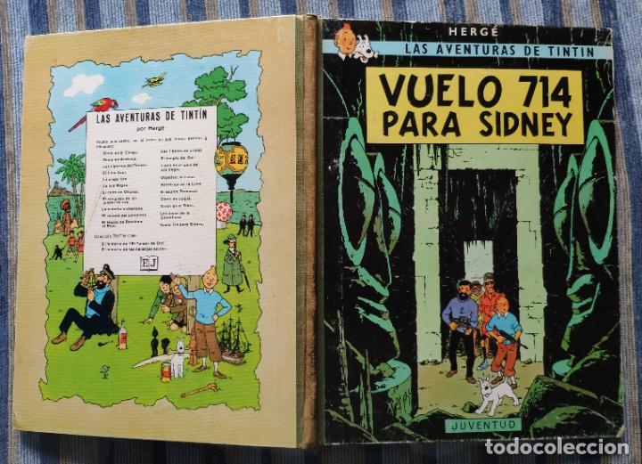 Cómics: TINTIN - LOMO TELA (COMPLETA CON 5 PRIMERAS,16 SEGUNDAS Y 4 TERCERAS EDICIONES)- JUVENTUD AÑOS 60-70 - Foto 31 - 222408535