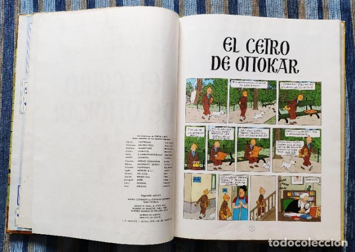 Cómics: TINTIN - LOMO TELA (COMPLETA CON 5 PRIMERAS,16 SEGUNDAS Y 4 TERCERAS EDICIONES)- JUVENTUD AÑOS 60-70 - Foto 36 - 222408535
