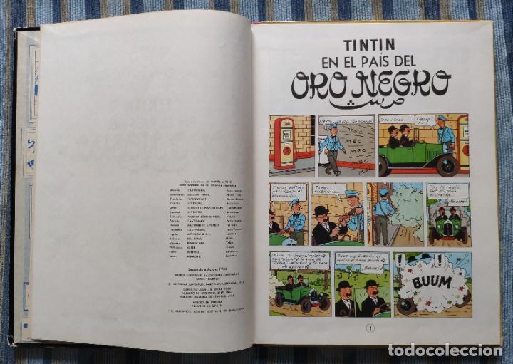 Cómics: TINTIN - LOMO TELA (COMPLETA CON 5 PRIMERAS,16 SEGUNDAS Y 4 TERCERAS EDICIONES)- JUVENTUD AÑOS 60-70 - Foto 38 - 222408535