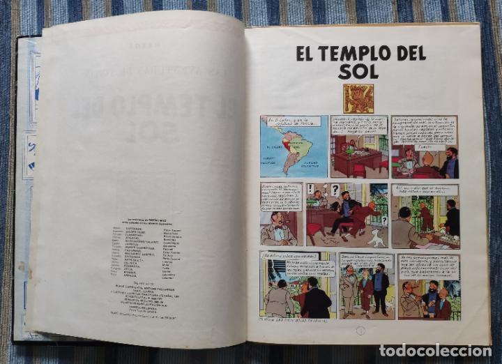 Cómics: TINTIN - LOMO TELA (COMPLETA CON 5 PRIMERAS,16 SEGUNDAS Y 4 TERCERAS EDICIONES)- JUVENTUD AÑOS 60-70 - Foto 40 - 222408535
