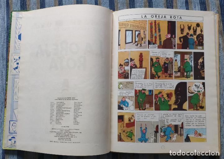 Cómics: TINTIN - LOMO TELA (COMPLETA CON 5 PRIMERAS,16 SEGUNDAS Y 4 TERCERAS EDICIONES)- JUVENTUD AÑOS 60-70 - Foto 44 - 222408535