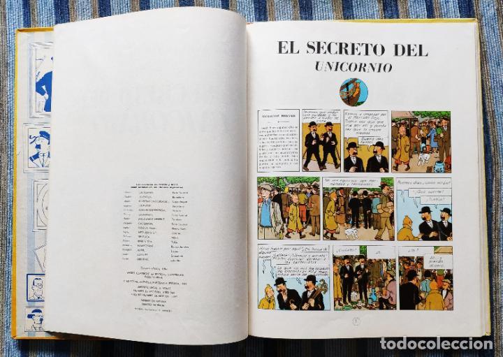 Cómics: TINTIN - LOMO TELA (COMPLETA CON 5 PRIMERAS,16 SEGUNDAS Y 4 TERCERAS EDICIONES)- JUVENTUD AÑOS 60-70 - Foto 48 - 222408535