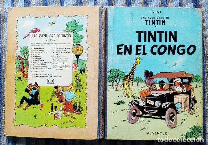 Cómics: TINTIN - LOMO TELA (COMPLETA CON 5 PRIMERAS,16 SEGUNDAS Y 4 TERCERAS EDICIONES)- JUVENTUD AÑOS 60-70 - Foto 51 - 222408535