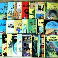 Fumetti: TINTIN COLECCIÓN COMPLETA 23 ÁLBUMES RÚSTICA (TAPA BLANDA) HERGÉ. JUVENTUD.. Lote 235052395
