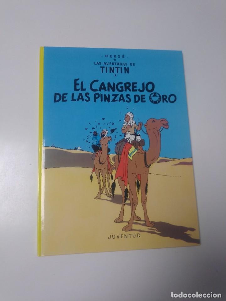 TINTÍN EL CANGREJO DE LAS PINZAS DE ORO TAPA DURA EDITORIAL JUVENTUD 2003 EDICIÓN 21 (Tebeos y Comics - Juventud - Tintín)