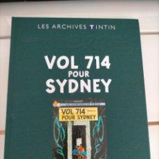 Cómics: ARCHIVOS TINTIN - VUELO 714 PARA SIDNEY - VOL 714 POUR SYDNEY - LES ARCHIVES - FRANCES. Lote 222799822