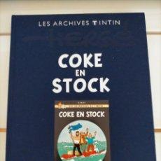 Cómics: ARCHIVOS TINTIN - STOCK DE COQUE - COKE EN STOCK- TINTIN AU TIBET - LES ARCHIVES - FRANCES. Lote 222803761