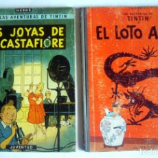 Comics: LAS AVENTURAS DE TINTIN - LAS JOYAS DE LA CASTAFIORE + EL LOTO AZUL - HERGE - PRIMERAS EDICIONES. Lote 223298882